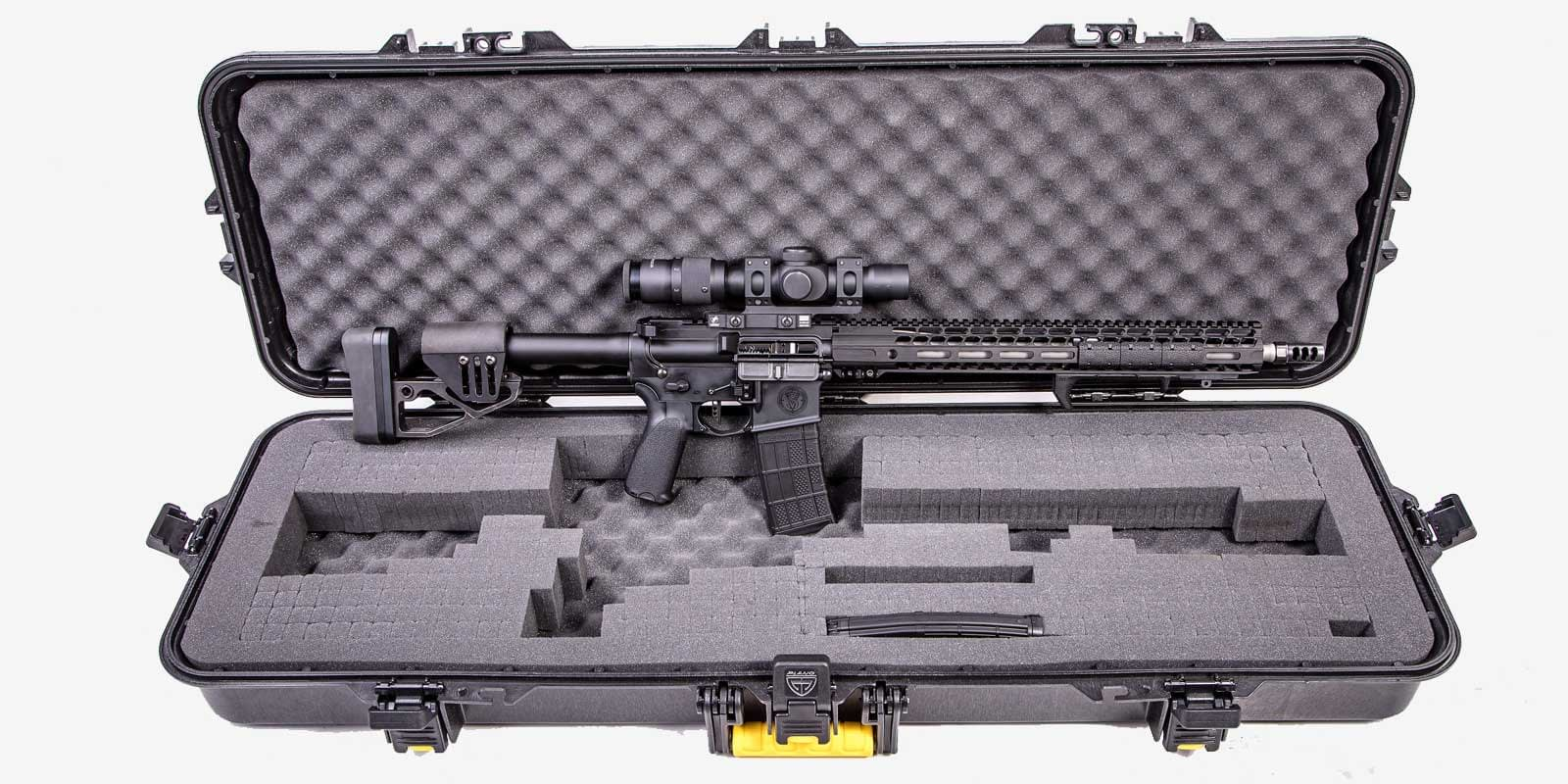 ar custom rifle in case