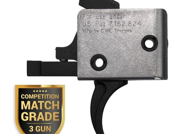 CMC AR-15 / AR-10 Single Srage Drop-In Competition Match Grade, 3 Gun Trigger - Curved Bow – 2.5LB Pull
